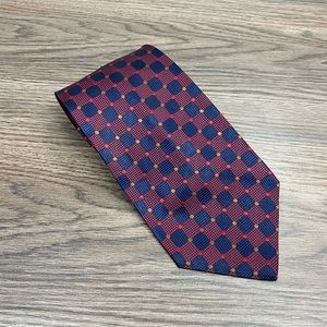 Vitaliano Pancaldi Navy, Red & Gold Check Tie